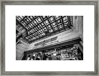 Ogden's Historic Peery's Egyptian Theater At Night Framed Print by Gary Whitton