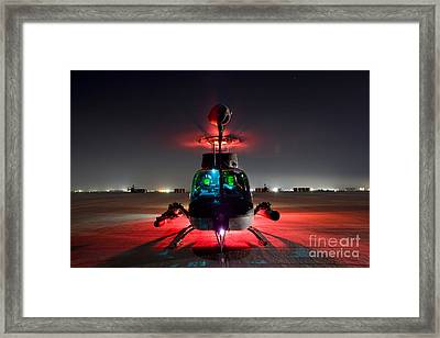 Oh-58d Kiowa Pilots Run Framed Print by Terry Moore