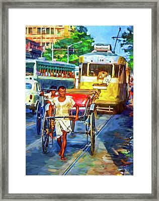 Oh Calcutta - Paint Framed Print