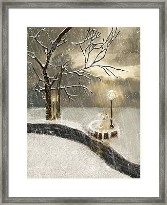Oh Let It Snow Let It Snow Framed Print by Angela A Stanton