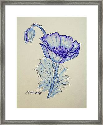 Oh Poppy Framed Print by Marna Edwards Flavell