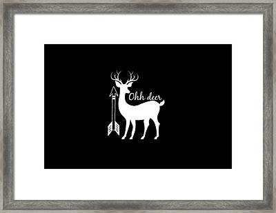 Ohh Deer Framed Print by Chastity Hoff