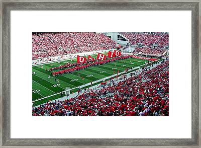 Ohio Flags Framed Print by Peter  McIntosh