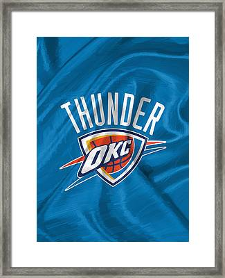 Oklahoma City Thunder Framed Print by Afterdarkness