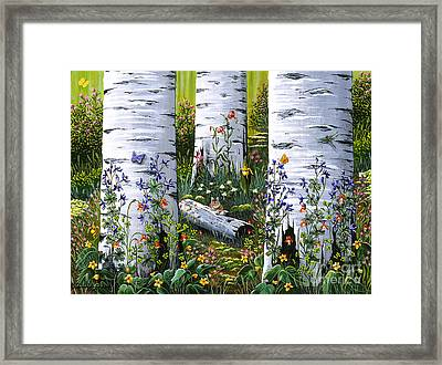 Framed Print featuring the painting Old Aspen Grove by Jennifer Lake