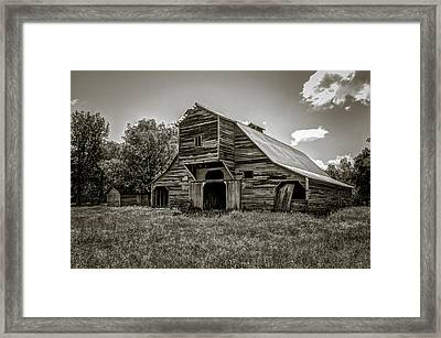 Old Barn Framed Print by Jeff Burton