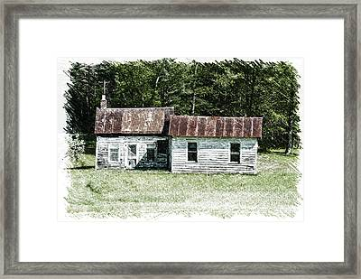 Old Barn Framed Print by William Reade