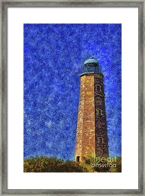 Old Cape Henry Lighthouse Framed Print