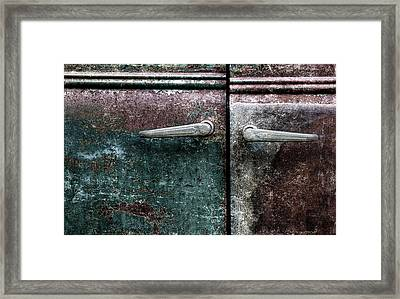 Old Car Weathered Paint Framed Print by Carol Leigh