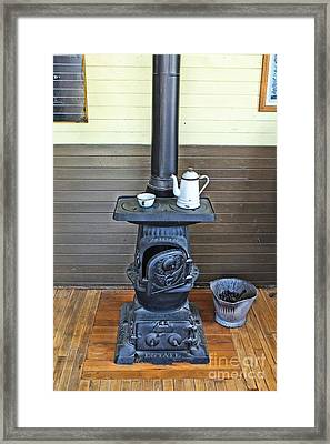 Old Cast Iron Stove 2 Framed Print