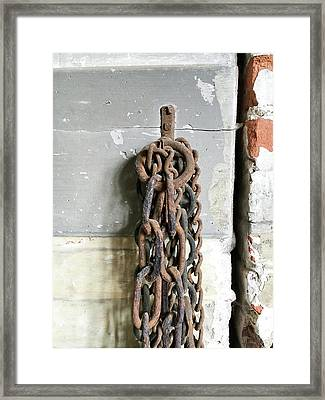 Old Chain Framed Print