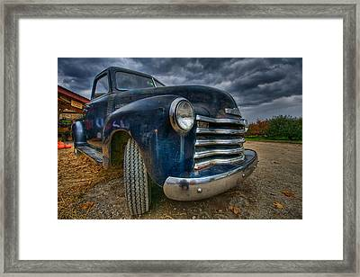 Old Chevy Framed Print by Mike Horvath
