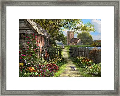 Old Church Path Framed Print