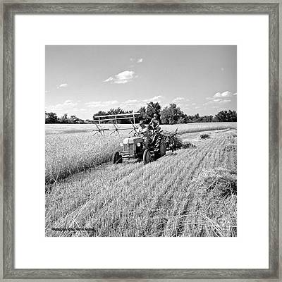 Old Combine Framed Print