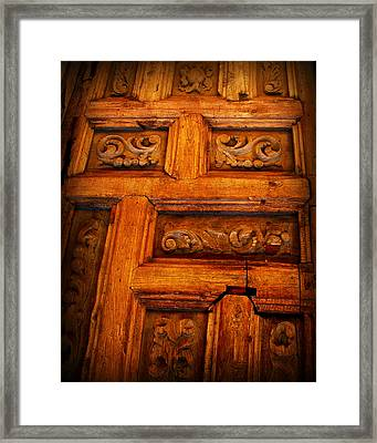 Old Door Framed Print by Perry Webster