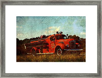 Old Fire Truck Framed Print by Off The Beaten Path Photography - Andrew Alexander