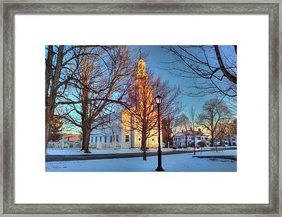 Old First Church - Bennington Vermont Framed Print by Joann Vitali