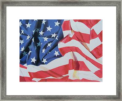 Old Glory Framed Print by Constance Drescher