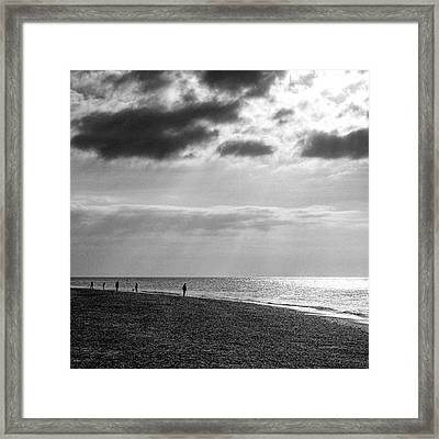 Old Hunstanton Beach, Norfolk Framed Print by John Edwards