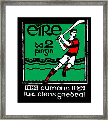 old Irish postage stamp Framed Print by James Hill