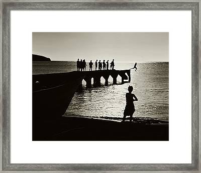 Old Jetty- St Lucia Framed Print