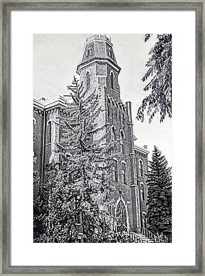 Old Main University Of Colorado Boulder Framed Print by Ann Powell