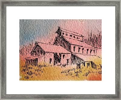Old Mill Cable Ghost Town Montana_ Framed Print by Kevin Heaney