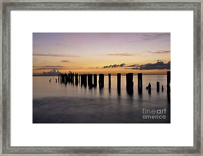 Framed Print featuring the photograph Old Naples Pier by Kelly Wade