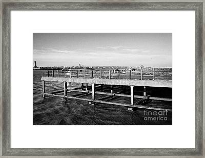 Old Princes Jetty Former Cattle Landing Stage Liverpool Docks Uk Framed Print by Joe Fox