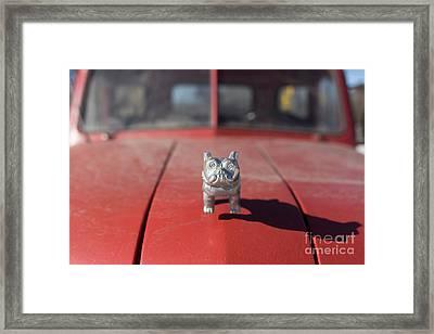 Old Red Farm Truck Framed Print by Edward Fielding