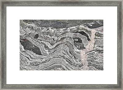 Old Rock Background Framed Print by Tom Gowanlock
