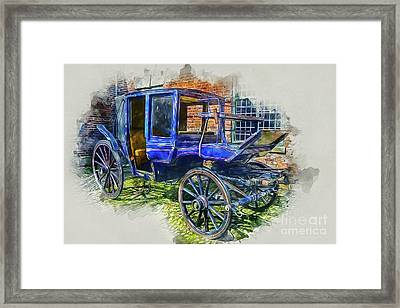 Old Stagecoach Framed Print
