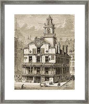 Old State House, Boston Framed Print by English School