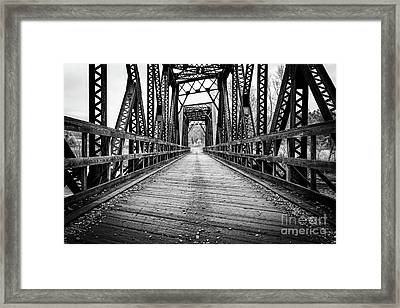 Old Steel Train Bridge Framed Print