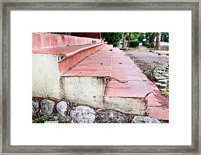 Old Steps Framed Print