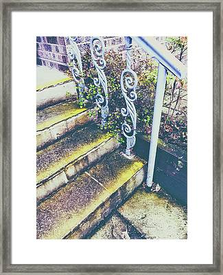 Old Stone Steps Framed Print