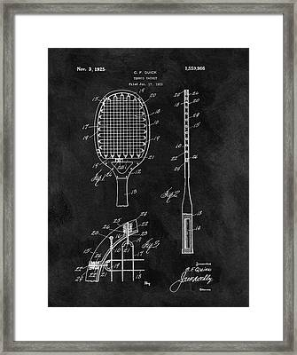 Old Tennis Racket Patent Framed Print by Dan Sproul