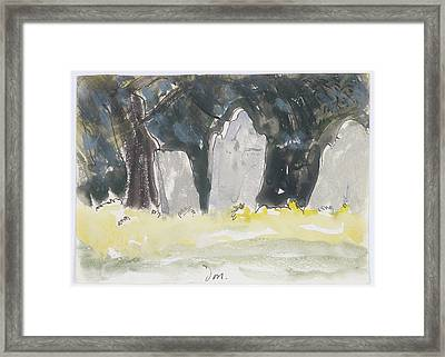 Old Tombstones Framed Print by Arthur Dove