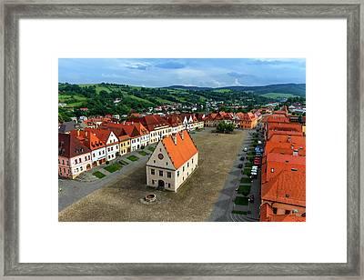 Old Town Square In Bardejov, Slovakia Framed Print by Elenarts - Elena Duvernay photo