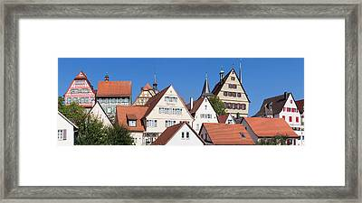 Old Town With Half-timbered Houses Framed Print