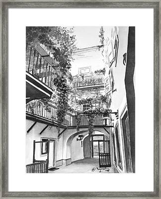 Old Viennese Courtyard Framed Print