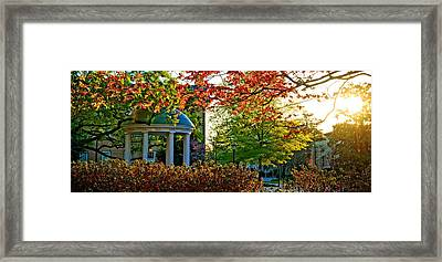 Old Well - Unc Chapel Hill Framed Print