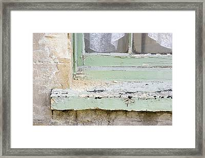 Old Windowsill Framed Print by Tom Gowanlock