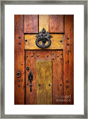 Old Wooden Door Framed Print by Carlos Caetano