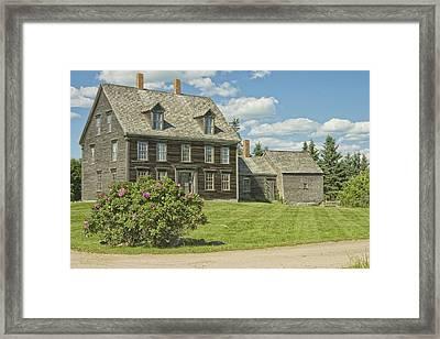 Olsen House Cushing Maine Framed Print by Keith Webber Jr