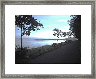 Olympic Discovery Trail Port Angeles Framed Print
