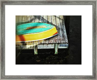 Framed Print featuring the photograph On Deck by Olivier Calas