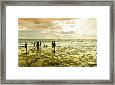 On The Beach Framed Print by Charuhas Images