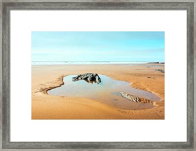 On The Beach Framed Print by Svetlana Sewell
