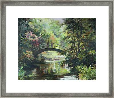 On The Bridge Framed Print